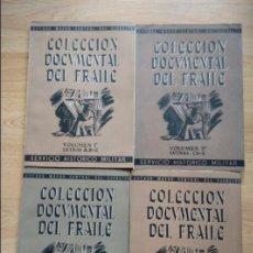 Militaria: ANTIGUA COLECCION COMPLETA DE 4 TOMOS DOCUMENTAL DEL FRAILE, ESTADO MAYOR CENTRAL DEL EJERCITO, 1947. Lote 97641259