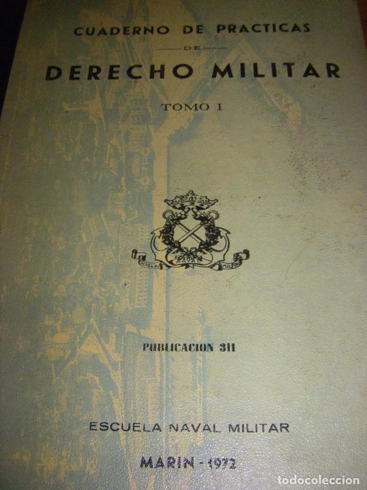 Militaria: Derecho Militar I. Escuela Naval Militar. Marin 1972 - Foto 2 - 97873743