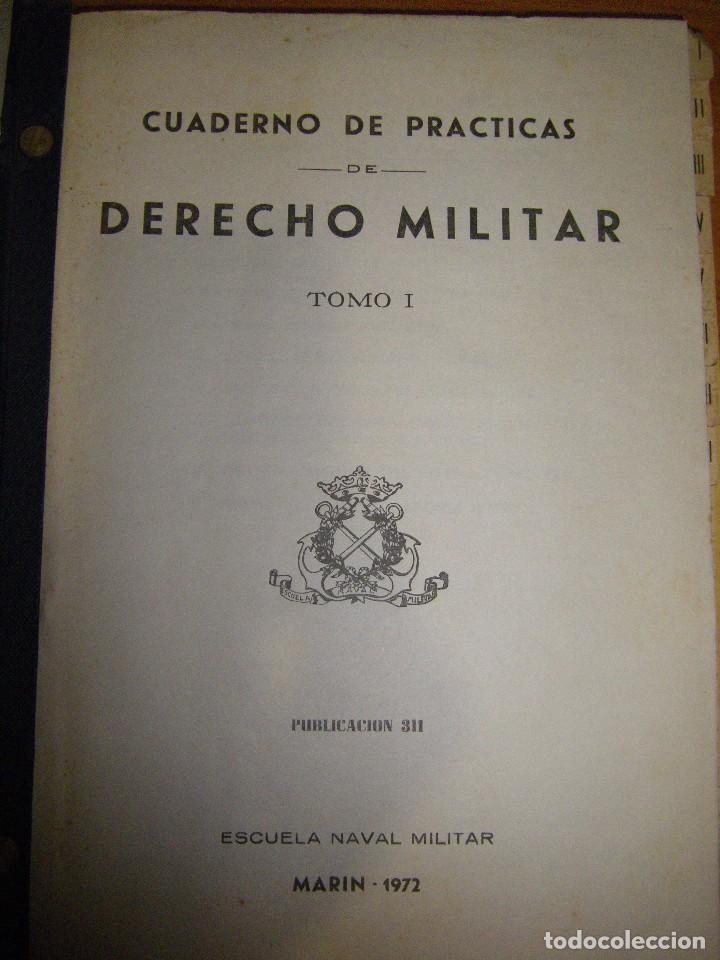 Militaria: Derecho Militar I. Escuela Naval Militar. Marin 1972 - Foto 6 - 97873743
