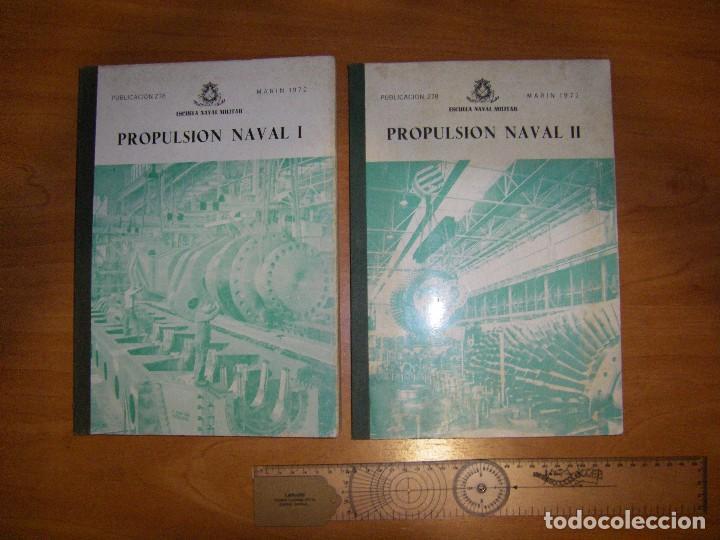 Militaria: Propulsión Naval I y II. Escuela Naval Militar. Marín 1972 - Foto 2 - 97876039