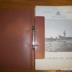 Militaria: ESTABILIDAD DEL BUQUE. ESCUELA NAVAL MILITAR. MARIN 1974. Lote 97876711