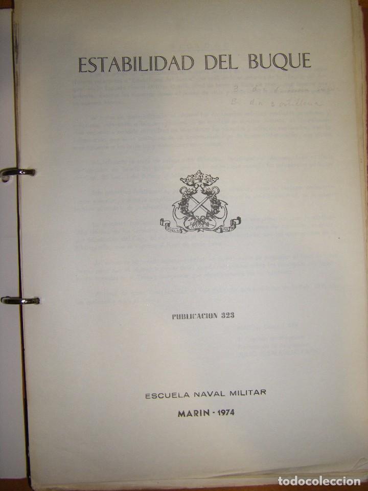 Militaria: Estabilidad del buque. Escuela Naval Militar. Marin 1974 - Foto 4 - 97876711