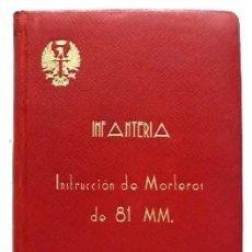 Militaria: INFANTERIA .NORMAS PARA LA INSTRUCCIÓN DE MORTEROS DE 81MM. - A-HM-1009.. Lote 98153887