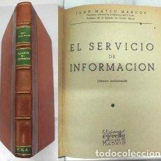 Militaria: EL SERVICIO DE INFORMACION.- MATEO MARCOS, JUAN.- A-HM-1016.. Lote 98233151