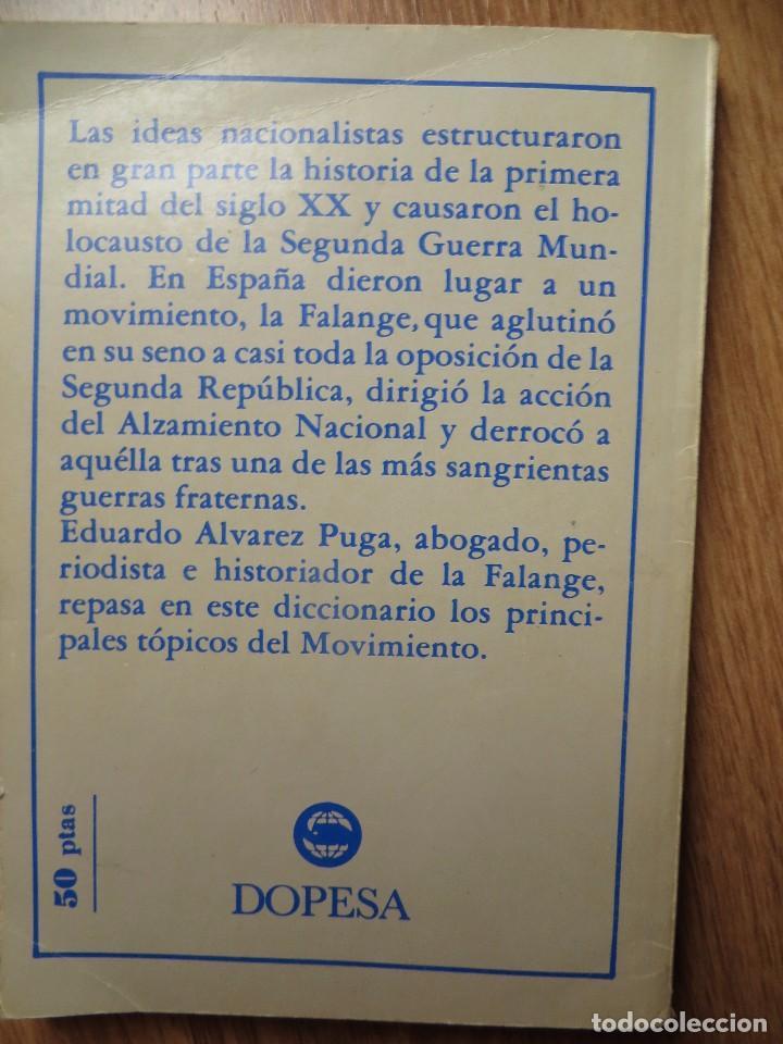 Militaria: DICCIONARIO DE FALANGE. IMPRESCINDIBLE. - Foto 4 - 98569831