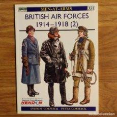 Militaria: WW1 - OSPREY - BRITISH AIR FORCES 1914-1918 (2) - MEN AT ARMS. Lote 103478212