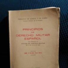 Militaria: PRINCIPIOS DE DERECHO MILITAR ESPAÑOL 17 JULIO 1945 TOMO II EDITORIAL NAVAL MADRID. Lote 98686534