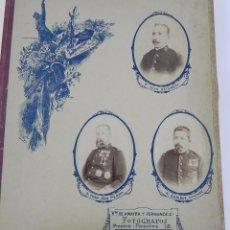 Militaria: ACADEMIA DE INFANTERIA TERCER AÑO 1893 1894. ALBUM CON 138 FOTOGRAFIAS - RETRATOS DE LOS MILITARES. . Lote 99503871