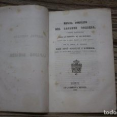 Militaria: MANUAL COMPLETO DEL ZAPADOR BOMBERO 1849 IMPRENTA NACIONAL CAPITAN INGENIEROS JOSE APARICI. Lote 99747539