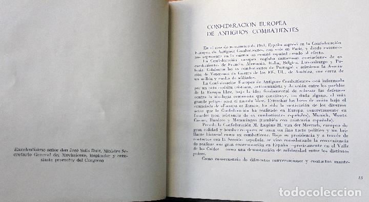 Militaria: Asamblea de la Confederación Europea de Antiguos Combatientes Octubre 1963 Ed Seción Española - Foto 2 - 101001131