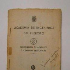 Militaria: ACADEMIA DE INGENIEROS DEL EJERCITO 1944. MONOGRAFIA DE APARATOS Y CENTRALES TELEFONICAS. TDKP2. Lote 101927139