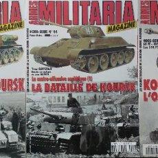 Militaria: MILITARIA MAGAZINE - LA BATAILLE DE KOURSK (3 VOLÚMENES). Lote 102483935