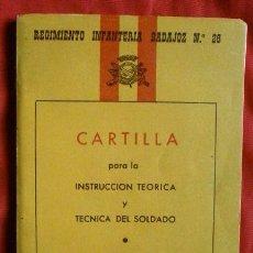 Militaria: CARTILLA PARA LA INSTRUCCION DEL SOLDADO - REGIMIENTO INFANTERIA BADAJOZ Nº 26. Lote 102950827