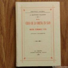 Militaria: EL CERCO DE LA CORUÑA EN 1589 - MARIA PITA. Lote 103391008