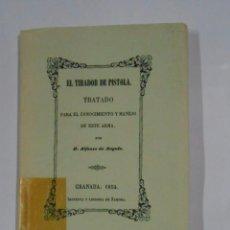 Militaria: EL TIRADOR DE PISTOLA. TRATADO PARA EL CONOCIMIENTO Y MANEJO DE ESTE ARMA. ALFONSO DE ANGULO. TDK325. Lote 103473715