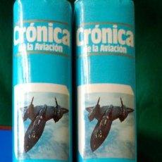 Militaria: CRONICA DE LA AVIACION - 2 TOMOS - PLAZA & JANES - ILUSTRADOS - NUEVOS - VER FOTOS. Lote 103663103