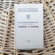 Militaria: ARMAMENTO DE INFANTERIA. DIRECTIVAS. BURGOS. 1938. GUERRA CIVIL. DESPLEGABLES. Lote 103680563