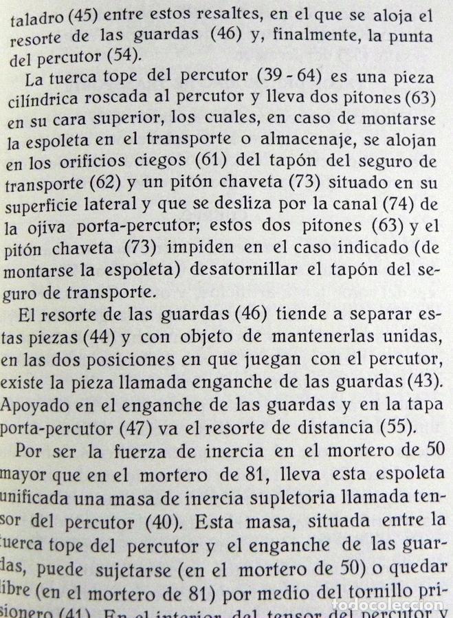 Militaria: ESPOLETA VALERO MODELO 48 PARA MORTERO DE 50 Y 81 MM - GUÍA LIBRITO MINISTERIO DEL EJÉRCITO ESPAÑA - Foto 2 - 129214720