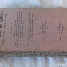 Militaria: ORDENANZAS DEL EJERCITO-14ª EDICION-CASA EDITORIAL HERNANDO-1942. Lote 104851639