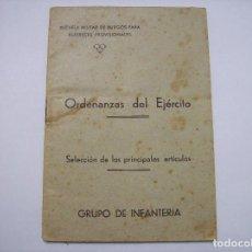 Militaria: LIBRO ORDENANZAS ESCUELA DE ALFERECES PROVISIONALES INFANTERIA BURGOS. Lote 105286535