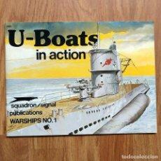 Militaria: U-BOATS IN ACTION - SUBMARINOS ALEMANES SEGUNDA GUERRA MUNDIAL U-BOOT KRIEGSMARINE SQUADRON SIGNAL. Lote 105377603