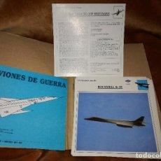 Militaria: FICHAS DE AVIONES DE GUERRA. Lote 108015947