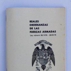 Militaria: REALES ORDENANZAS DE LAS FUERZAS ARMADAS - 1978 - ÁGUILA DE SAN JUAN - BUEN ESTADO - RARO. Lote 108724855