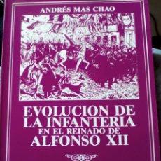 Militaria: EVOLUCIÓN DE LA INFANTERÍA EN EL REINADO DE ALFONSO XII. ANDRÉS MAS CHAO. Lote 108883382