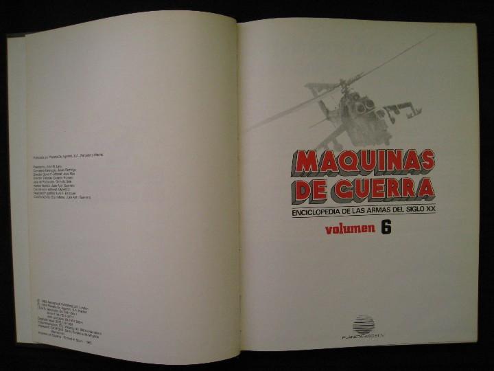 Militaria: MAQUINAS DE GUERRA - TOMO 6 - PLANETA DE AGOSTINI. - Foto 5 - 109109623