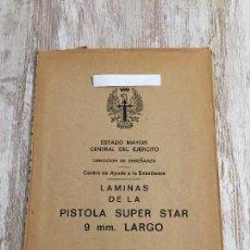 Militaria: LAMINAS PISTOLA SUPER STAR 9MM. Lote 109380587