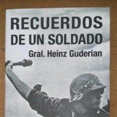 Militaria: RECUERDOS DE UN SOLDADO - HEINZ GUDERIAN. Lote 109732019