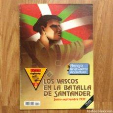 Militaria: GUERRA CIVIL - LOS VASCOS EN LA BATALLA DE SANTANDER -1937 - MEMORIA DE LA GUERRA EN EUSKADI EUZKADI. Lote 109893031