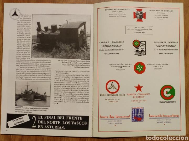Militaria: GUERRA CIVIL - LOS VASCOS EN LA BATALLA DE SANTANDER -1937 - MEMORIA DE LA GUERRA EN EUSKADI EUZKADI - Foto 5 - 109893031