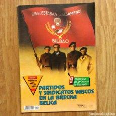 Militaria: GUERRA CIVIL - PARTIDOS Y SINDICATOS VASCOS EN LA BRECHA BELICA - MEMORIA DE LA GUERRA EN EUSKADI . Lote 109907827