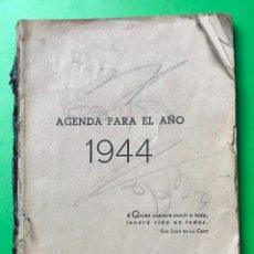 Militaria: AGENDA PARA EL AÑO 1944 CON FOTOGRAFIAS DE HITLER , MUSSOLINI , FRANCO , DIVISIÓN AZUL. Lote 110398743