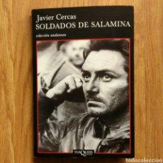 Militaria: GUERRA CIVIL - SOLDADOS DE SALAMINA. JAVIER CERCAS. TUSQUETS EDITORES. Lote 110496855