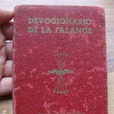 Militaria: DEVOCIONARIO DE FALANGE 1942. Lote 110946087