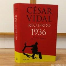 Militaria: GUERRA CIVIL - RECUERDO 1936 - CESAR VIDAL - ESPAÑOLA. Lote 111003259