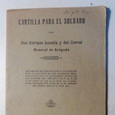 Militaria: CARTILLA PARA EL SOLDADO 1917. Lote 111512528