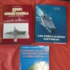 Militaria: LOTE DE TRES LIBROS DE HISTORIA MILITAR (NAVAL). Lote 111725819