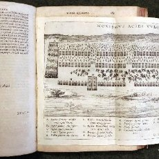 Militaria: 1602 - POST INCUNABLE - IVSTI LIPSI DE MILITIA ROMANA LIBRI QVINQVE - EJERCITO ROMANO. Lote 111768179