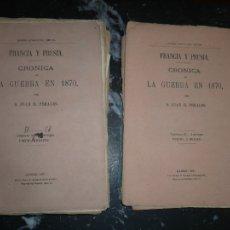 Militaria: 19 CUADERNOS FRANCIA Y PRUSIA CRONICA DE LA GUERRA DE 1870 JUAN B.PERALES 1871 MADRID. Lote 111785863