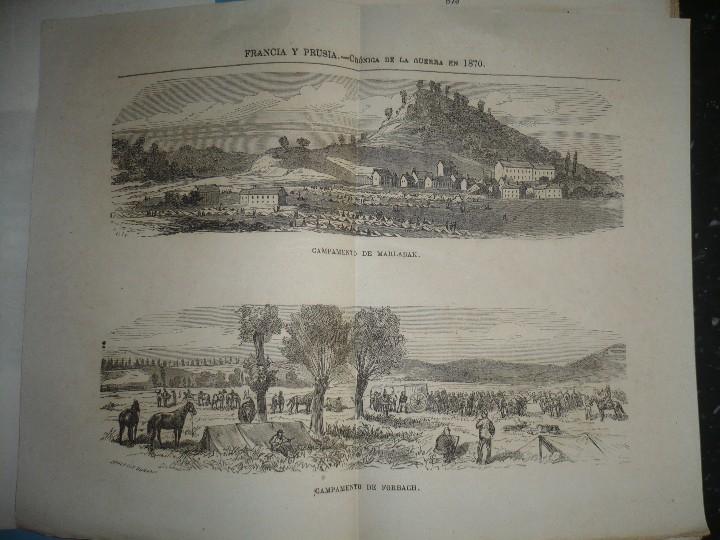 Militaria: 19 CUADERNOS FRANCIA Y PRUSIA CRONICA DE LA GUERRA DE 1870 JUAN B.PERALES 1871 MADRID - Foto 8 - 111785863