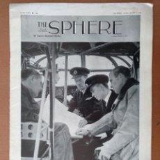 Militaria: THE SPHERE Nº 2124 OCTUBRE 1940 TEXTO EN INGLES II GUERRA MUNDIAL. Lote 112229215
