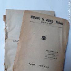 Militaria: LIBROS HISTORIA MILITAR REGLAMENTO TÁCTICO DE INFANTERÍA TOMO SEGUNDO 1938. Lote 112502808