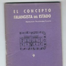 Militaria: S35-EDICIONES PARA EL BOLSILLO DE LA CAMISA AZUL Nº 9.EL CONCEPTO FALANGISTA DEL ESTADO. Lote 112686927