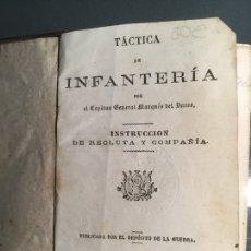 Militaria: INSTRUCCIÓN MILITAR DE INFANTERÍA, MADRID 1864. 295 PÁGINAS. Lote 112710739