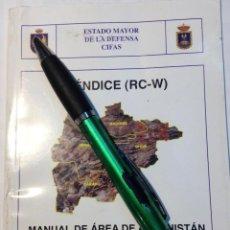 Militaria: MANUAL DE AREA DE AFGANISTAN. . Lote 112989583