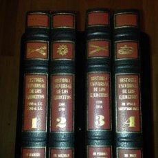 Militaria: HISTORIA UNIVERSAL DE LOS EJÉRCITOS. 4 TOMOS.. Lote 113115595