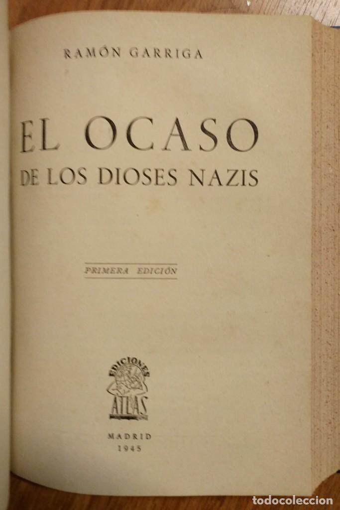 Militaria: WW2 - 2 LIBROS: EL OCASO DE LOS DIOSES NAZIS + ITALIA FUERA DE COMBATE - SEGUNDA GUERRA MUNDIAL - Foto 3 - 114333591